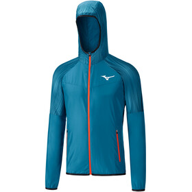 Mizuno Printed Running Jacket Men teal